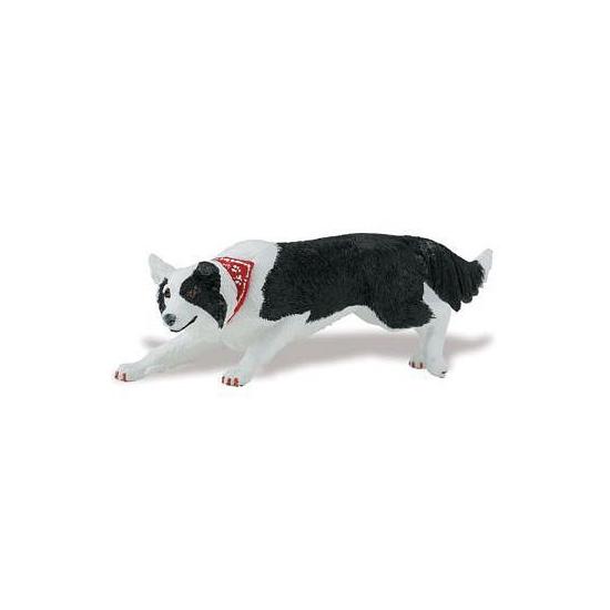 Plastic speelgoed figuur Border Collie hond 12 cm