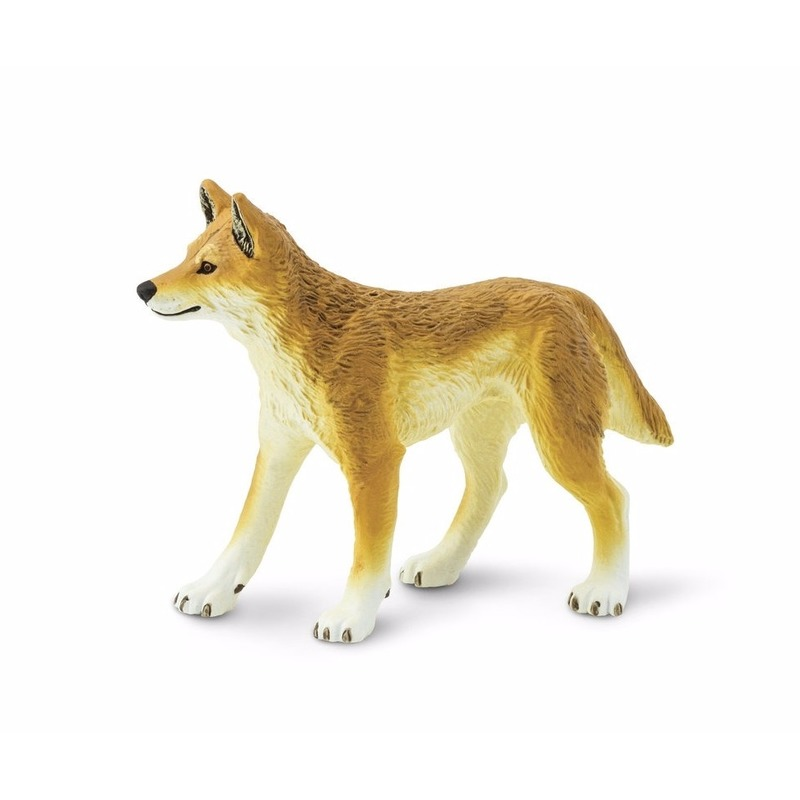 Plastic speelgoed figuur dingo wilde hond 10 cm