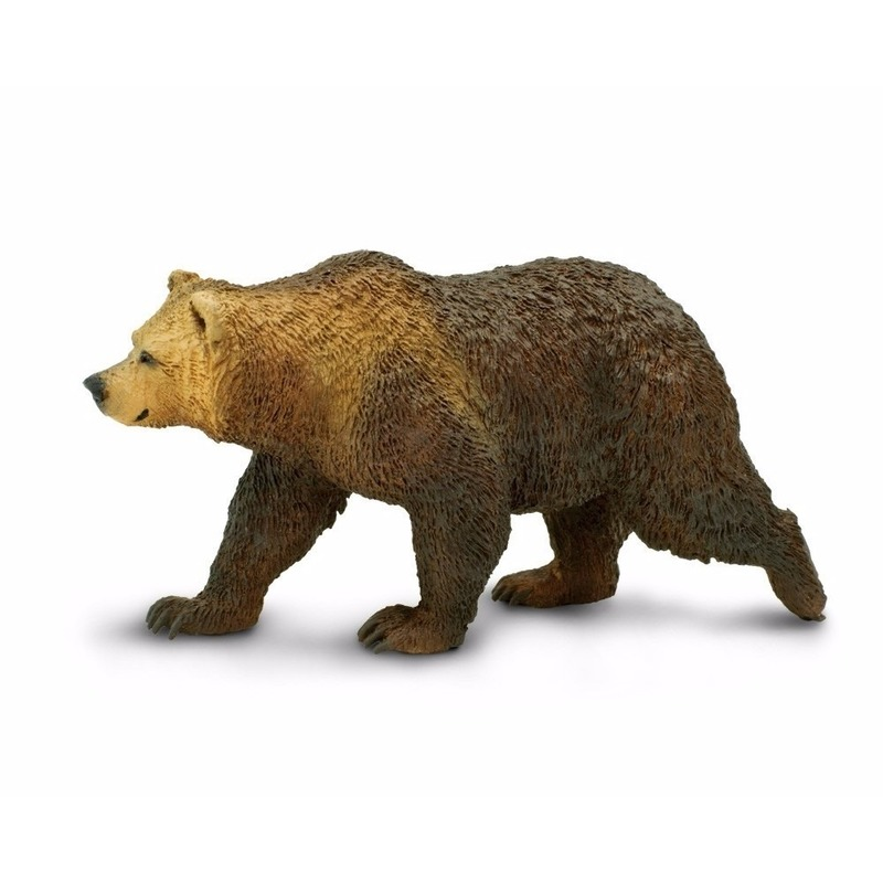 Plastic speelgoed figuur grizzly beer 12 cm