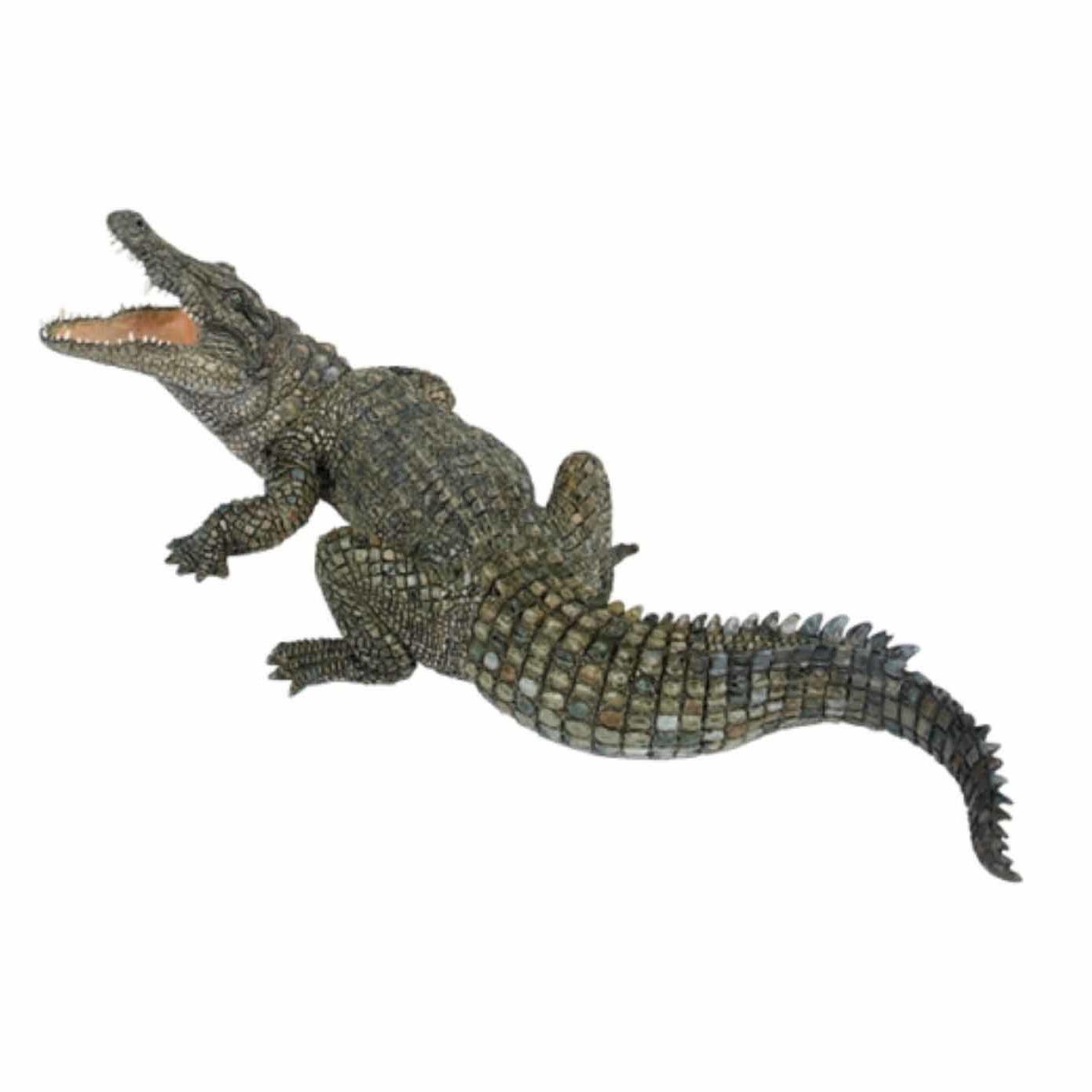 Plastic speelgoed figuur nijl krokodil 21 cm