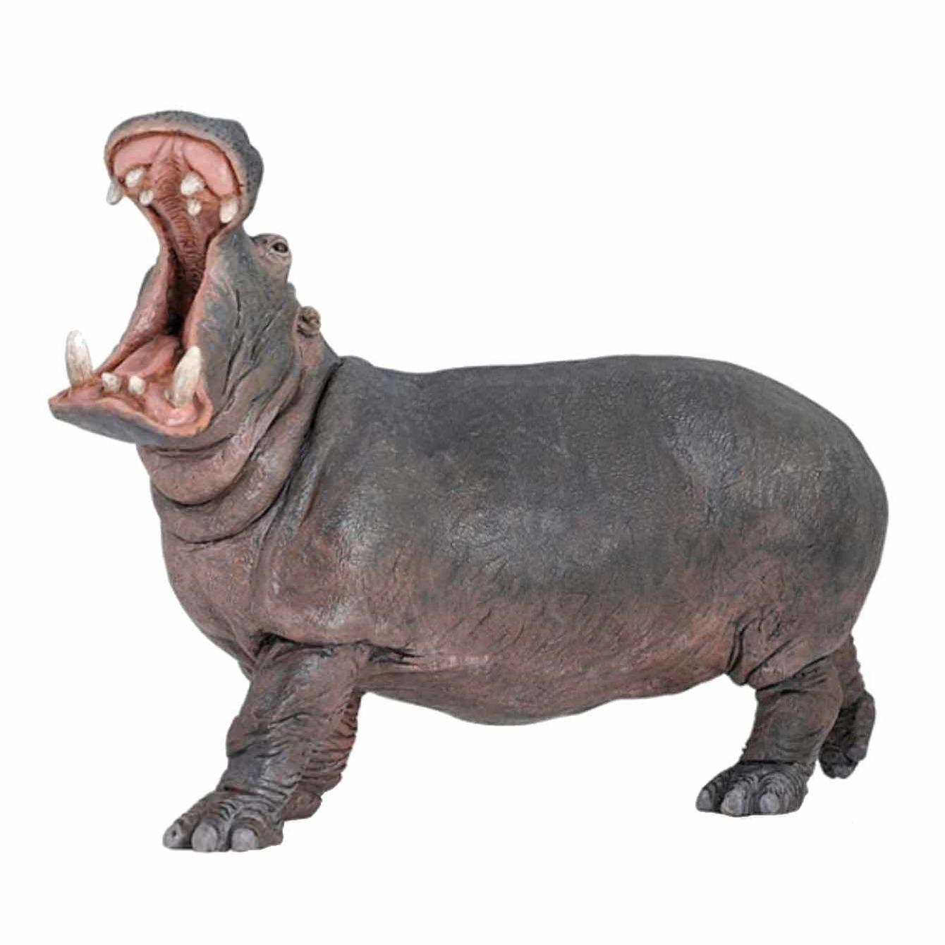 Plastic speelgoed figuur nijlpaard 15 cm