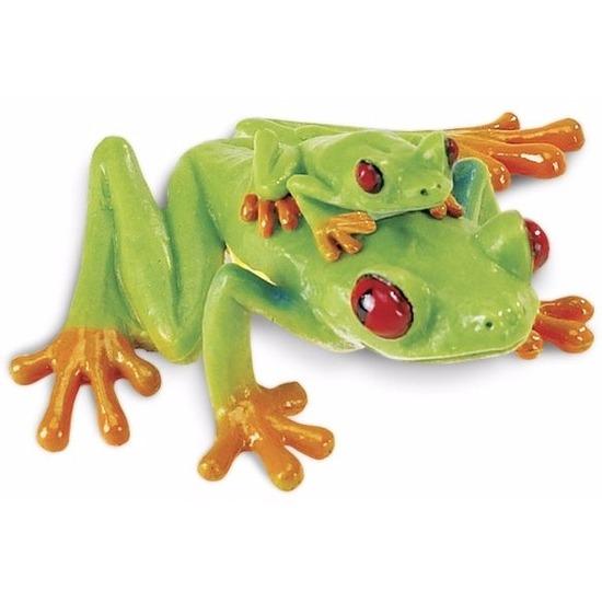 Plastic speelgoed figuur roodoogmaki kikker 7 cm