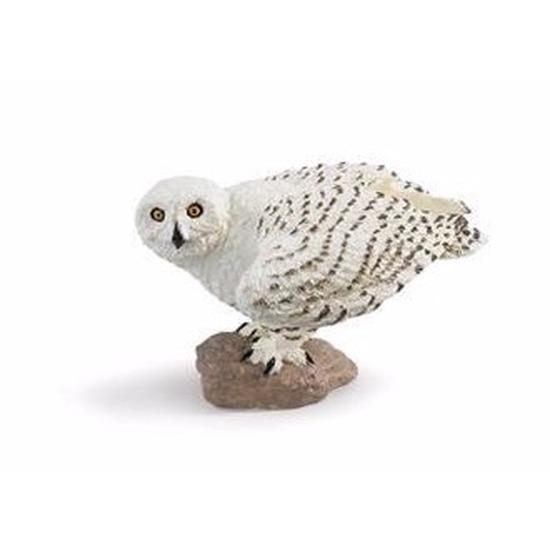 Plastic speelgoed figuur sneeuwuil 6 cm