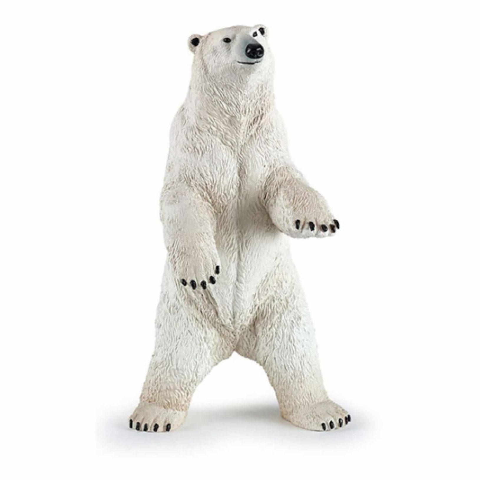 Plastic speelgoed figuur staande ijsbeer 7 cm