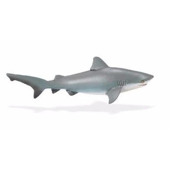 Plastic speelgoed figuur stierhaai 14 cm