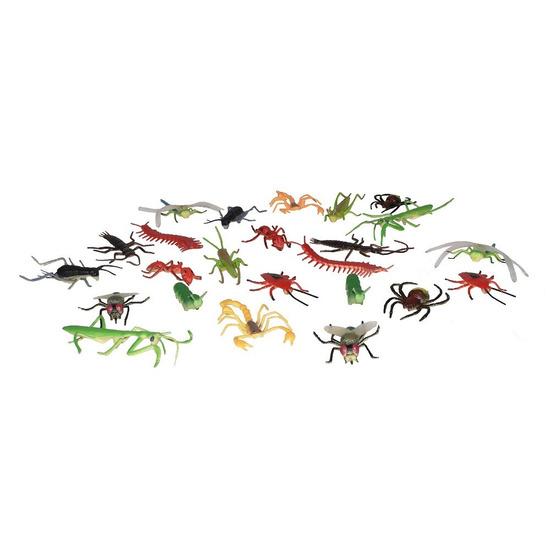 Plastic speelgoed insecten dieren speelset 24-delig