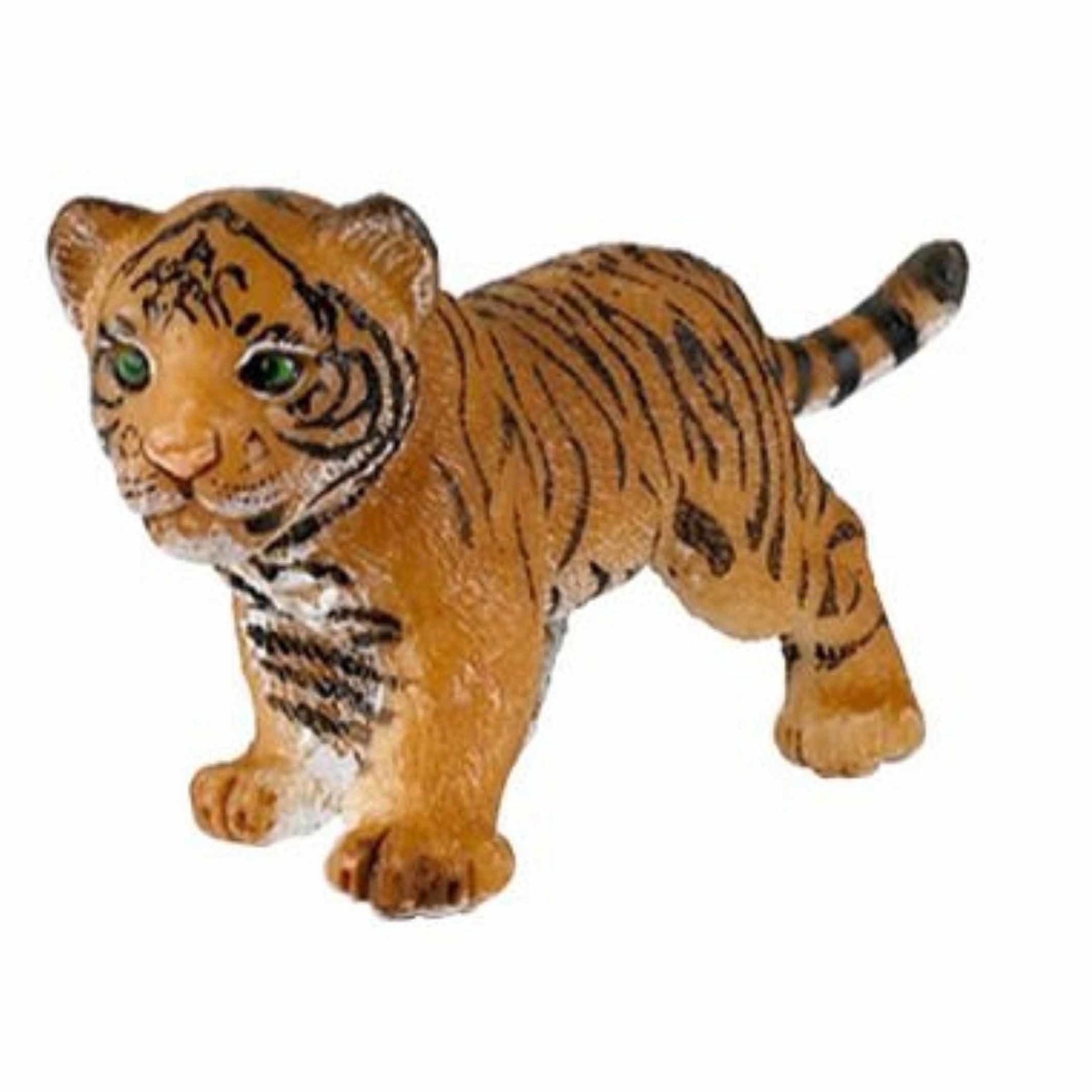 Plastic speelgoed tijgertje 4 cm