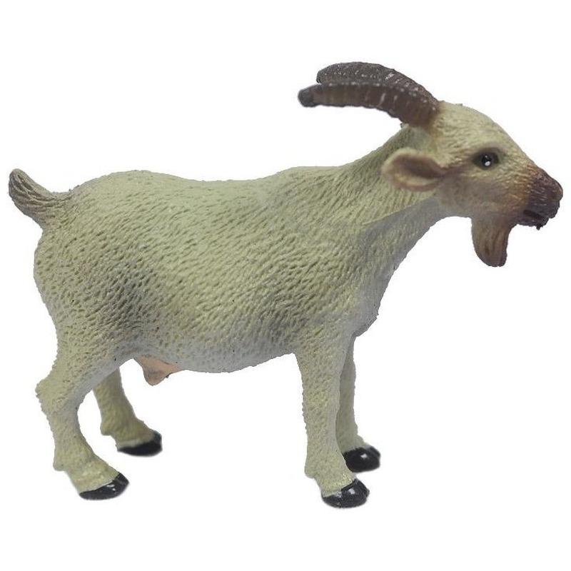 Plastic speelgoed witte geit 6 cm