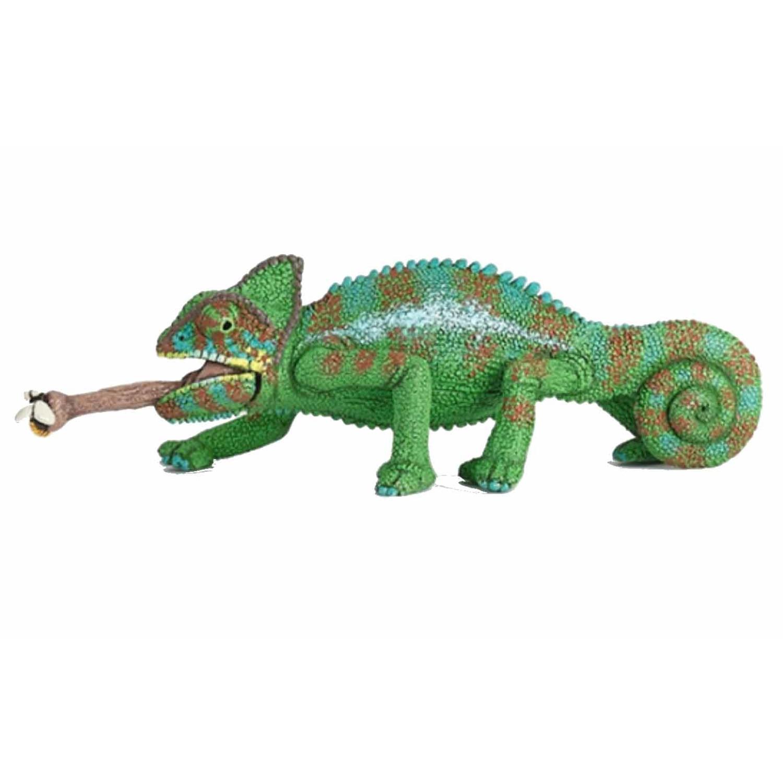 Plasticspeelgoed figuur kameleon 4 cm