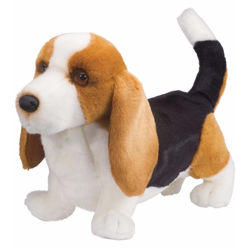 Pluche Basset hond knuffel 41 cm