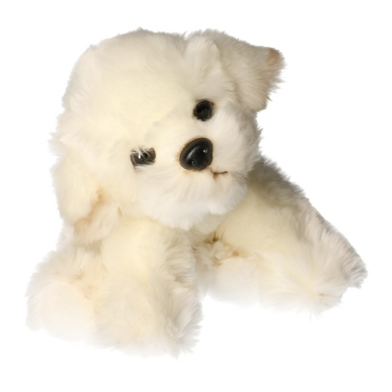 Pluche Bison Frise hond knuffel 24 cm