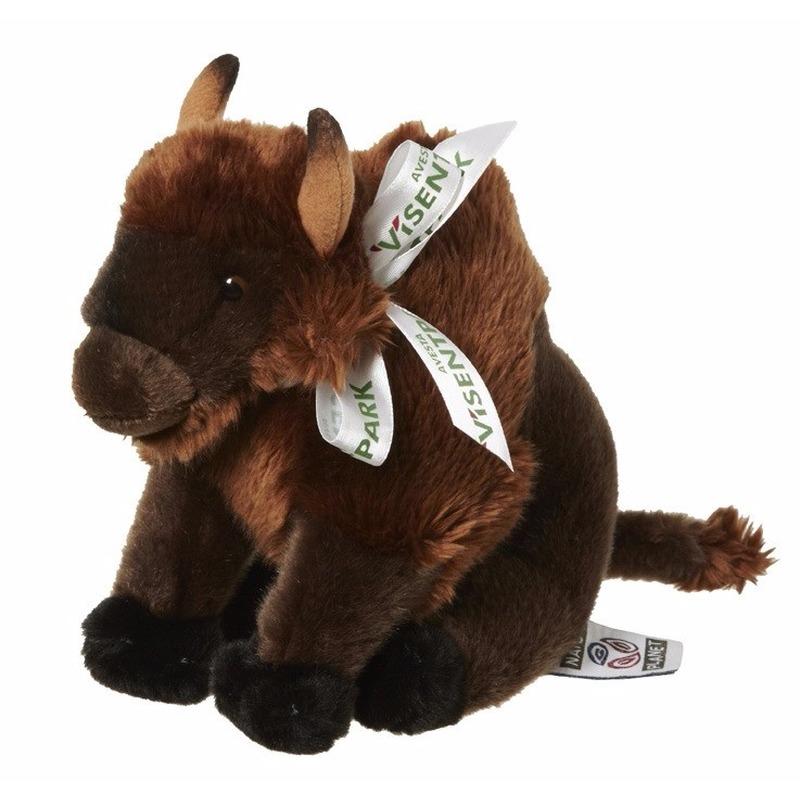Pluche bizon knuffeldiertjes 18 cm