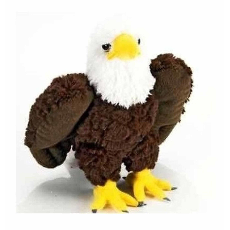 Pluche bruin/witte Amerikaanse zeearend knuffel vogel 25 cm