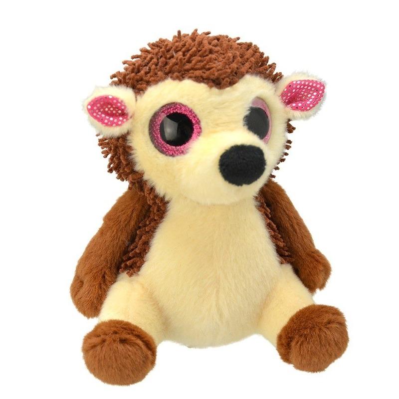 Pluche bruine egel knuffel 19 cm speelgoed