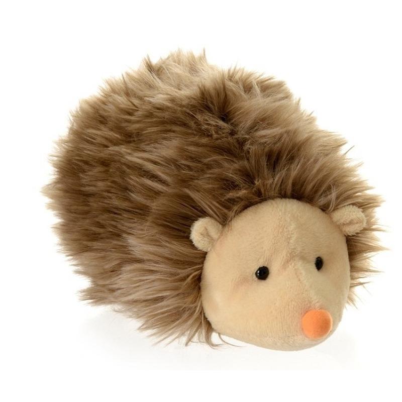 Pluche bruine egel knuffel 20 cm speelgoed