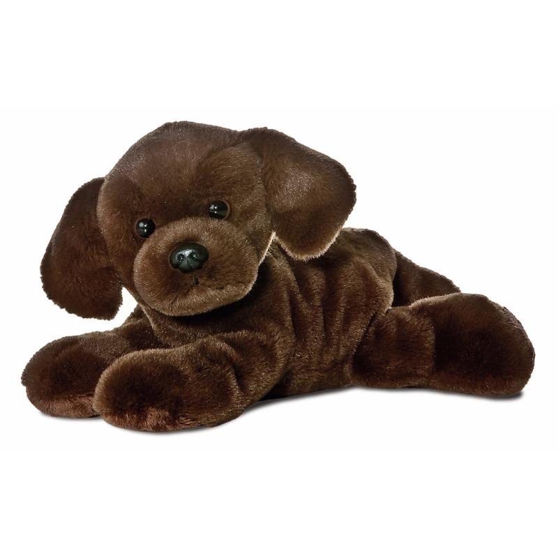 Pluche bruine labrador honden knuffel 20 cm