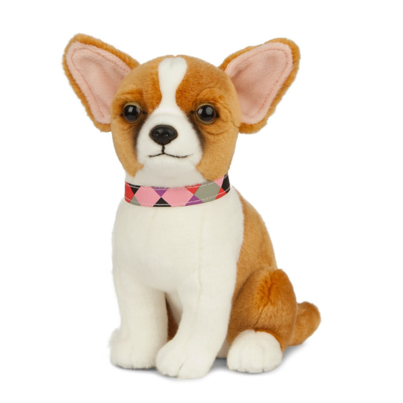 Pluche Chihuahua honden knuffel 20 cm speelgoed