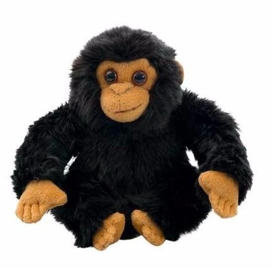 Pluche chimpansee knuffeldiertjes 18 cm