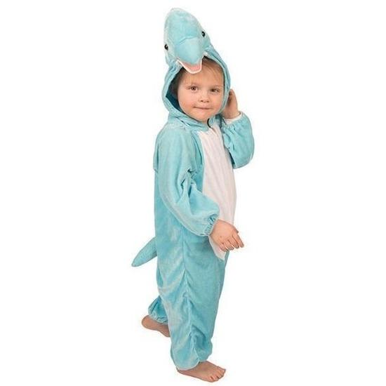 Pluche dolfijnen pak blauw