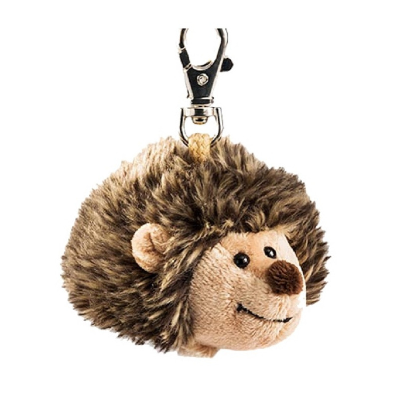 Pluche egel Iggy knuffel sleutelhanger 10 cm