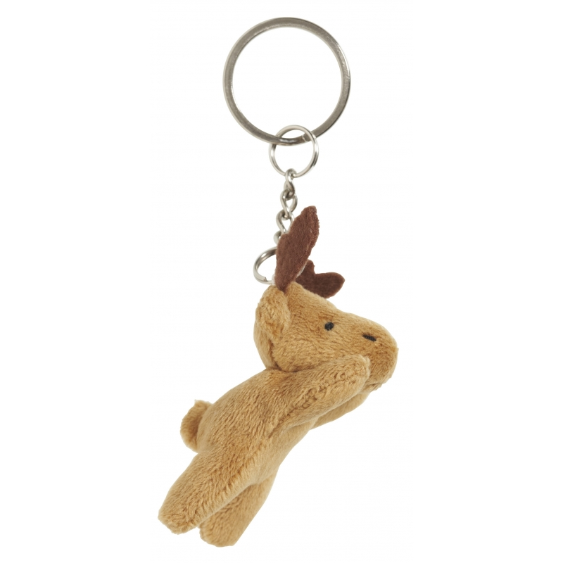 Pluche eland knuffel sleutelhanger 6 cm