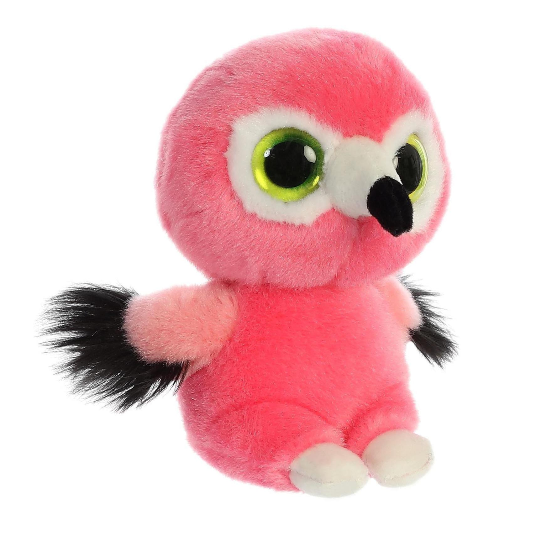 Pluche flamingo knuffel 15 cm