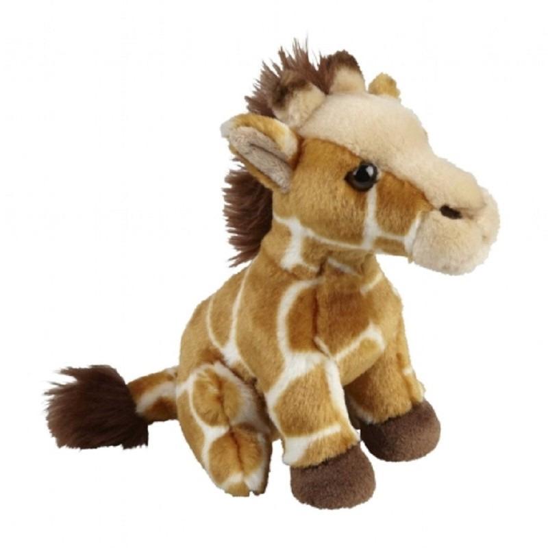 Pluche gevlekte giraffe knuffel 18 cm speelgoed