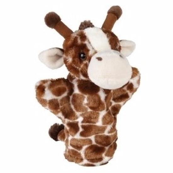 Pluche giraffe handpop 26 cm