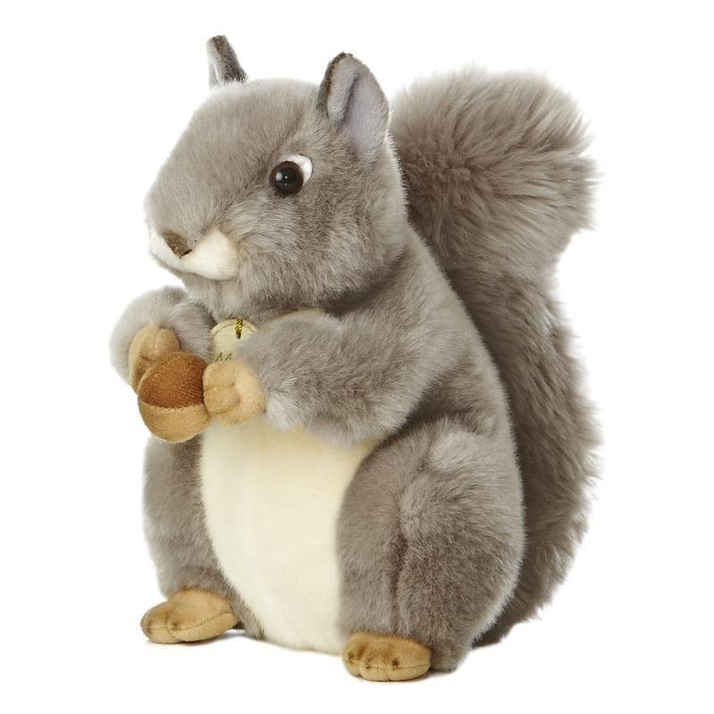 Pluche grijze eekhoorn knuffel 26 cm