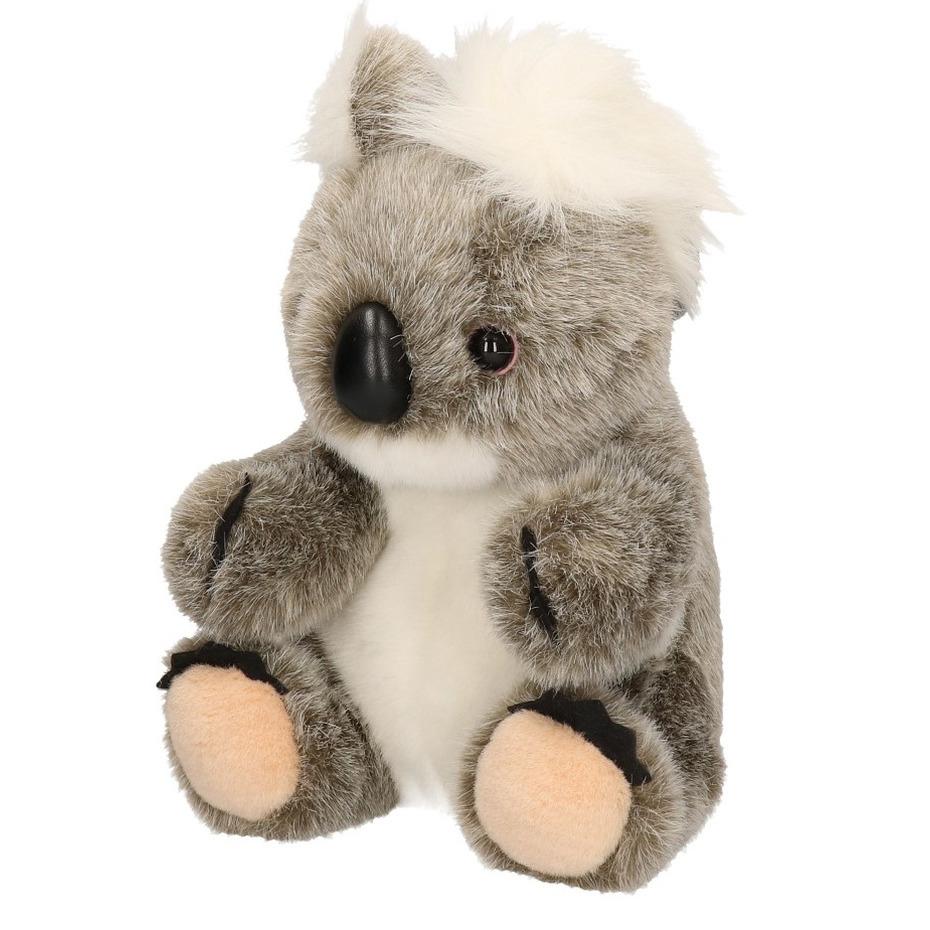 Pluche grijze koala knuffel 23 cm speelgoed