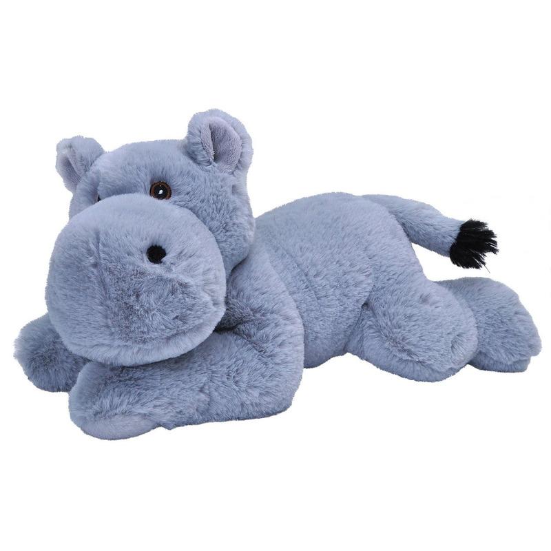 Pluche grijze nijlpaarden knuffel 30 cm speelgoed