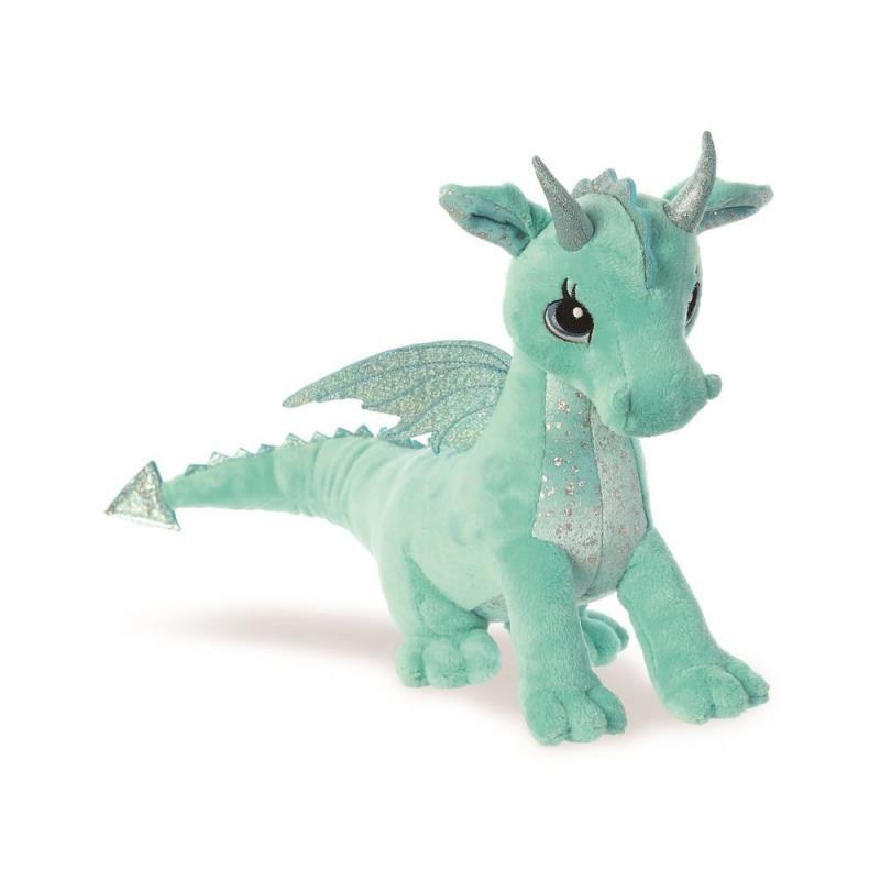 Pluche groene draak/draken knuffel 30 cm