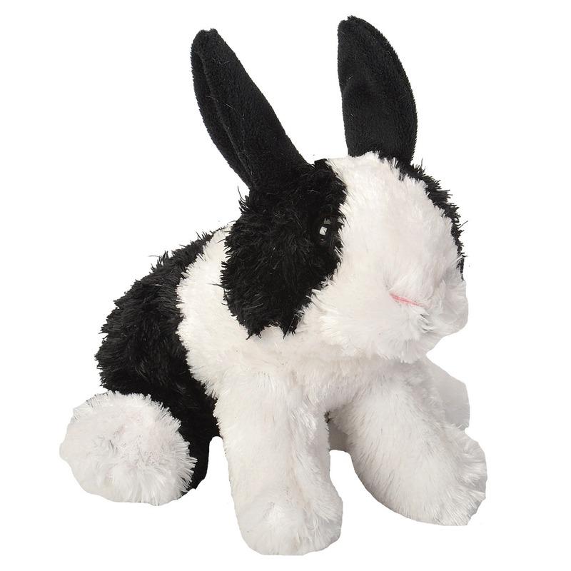 Pluche Hollander konijn knuffel 18 cm