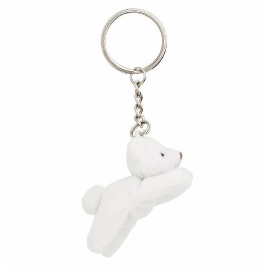 Pluche IJsbeer knuffel sleutelhanger 6 cm