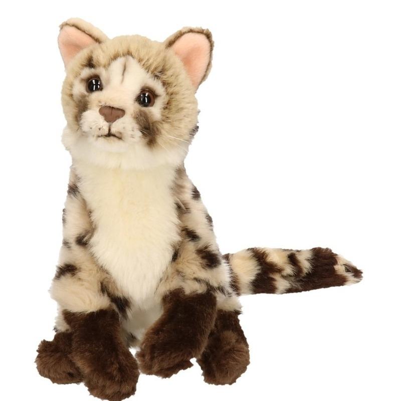Pluche katten knuffel Genetkat 21 cm