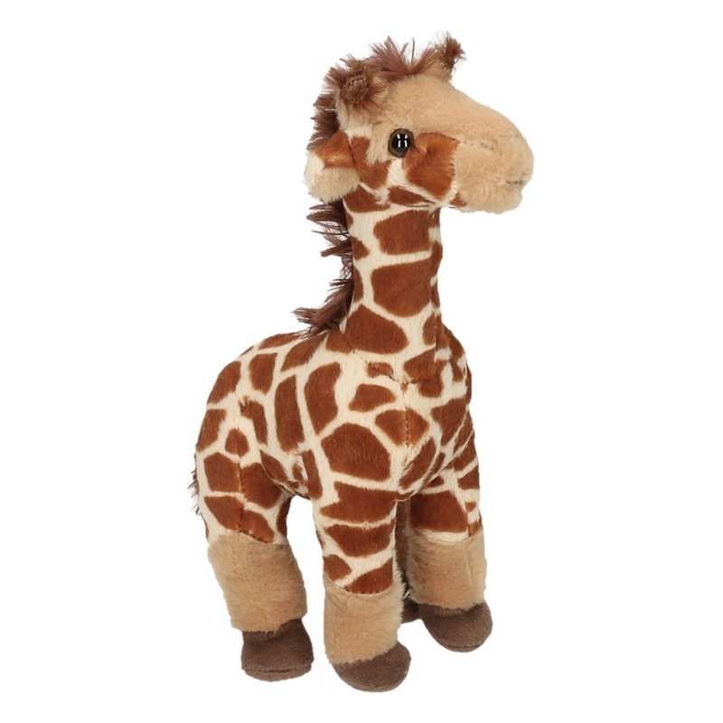 Pluche knuffel giraffe 25 cm