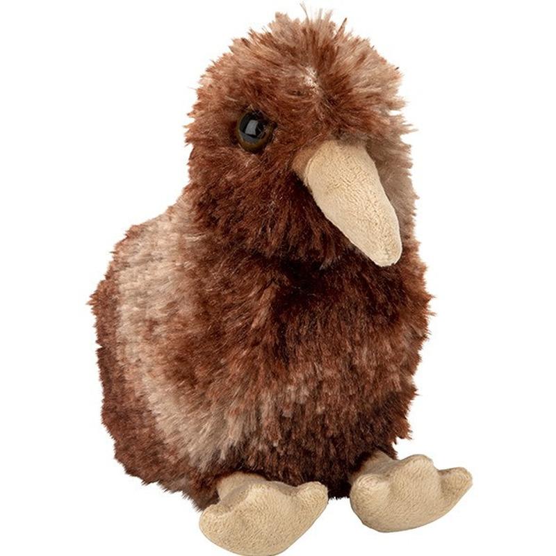 Pluche knuffel Kiwi van 13 cm