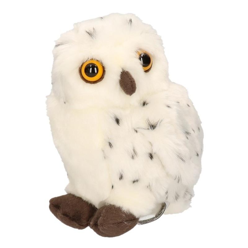 Pluche knuffel sneeuwuil 20 cm