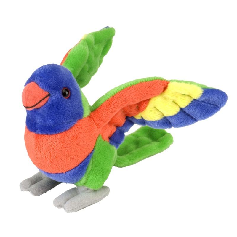 Pluche lori papegaaien vogel knuffel 25 x 20 x 10 cm