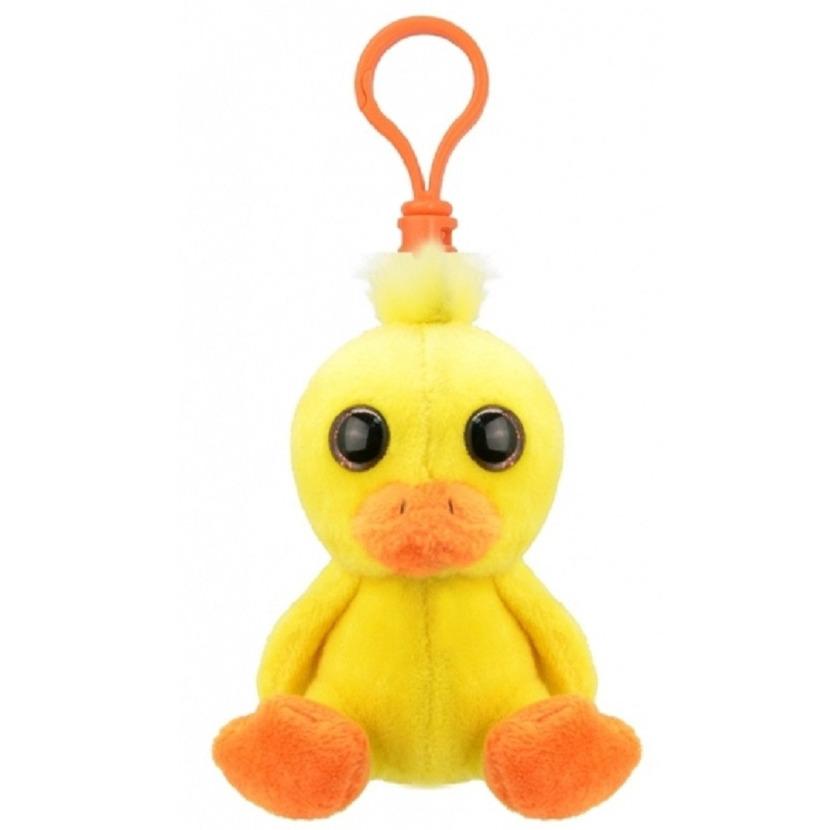 Pluche mini baby eend knuffel sleutelhanger 9 cm