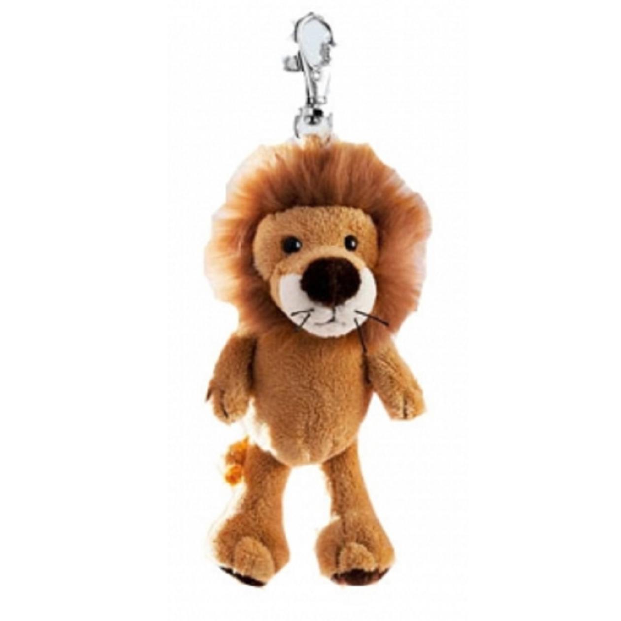 Pluche mini leeuw knuffel sleutelhanger 10 cm