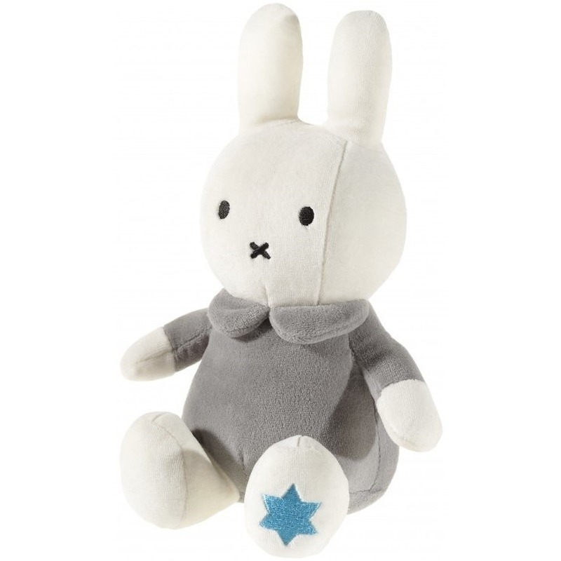 Pluche Nijntje knuffel wit/grijs 25 cm baby speelgoed