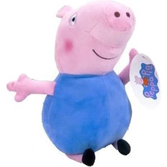 Pluche Peppa Pig/Big knuffel in blauwe outfit 28 cm speelgoed