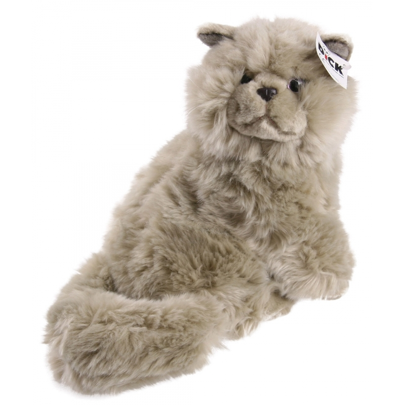 Pluche perzische kat knuffel grijs 30 cm