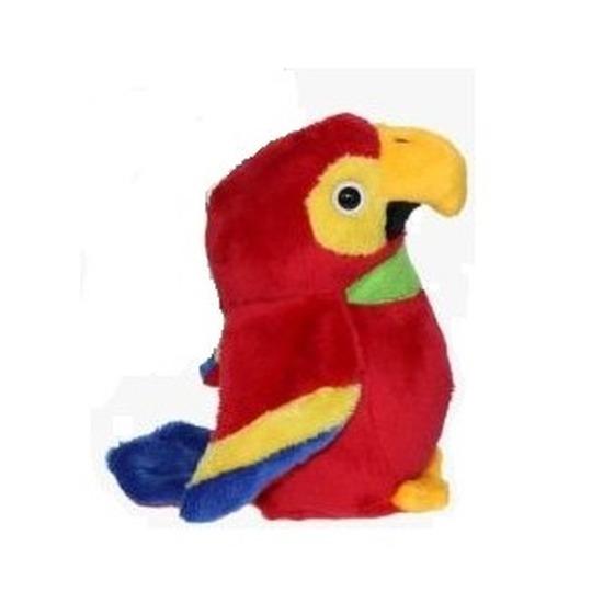 Pluche rode ara papegaai knuffel 15 cm speelgoed