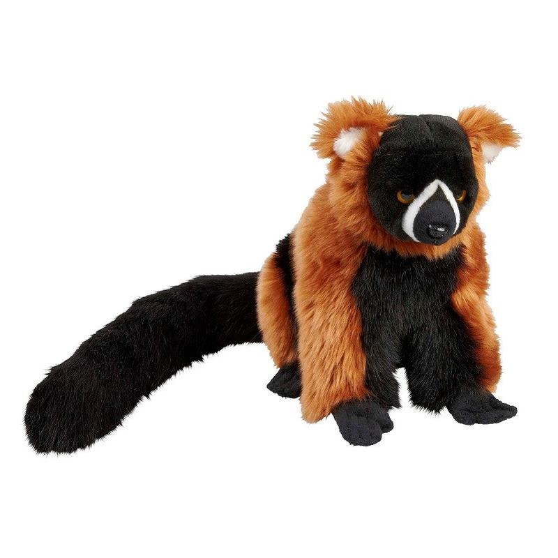 Pluche rode vari/maki aap/apen knuffel 28 cm speelgoed