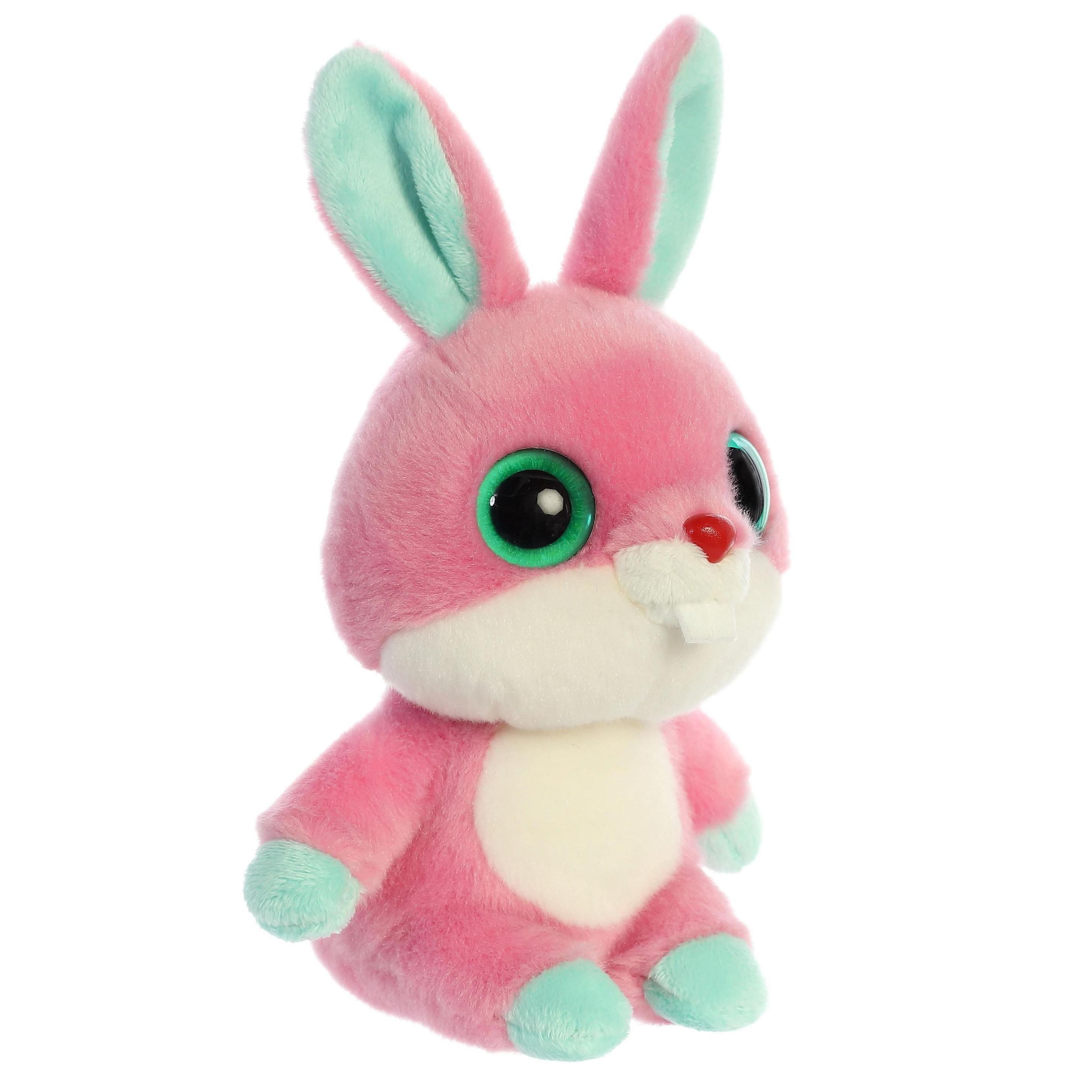 Pluche roze konijn knuffel 20 cm