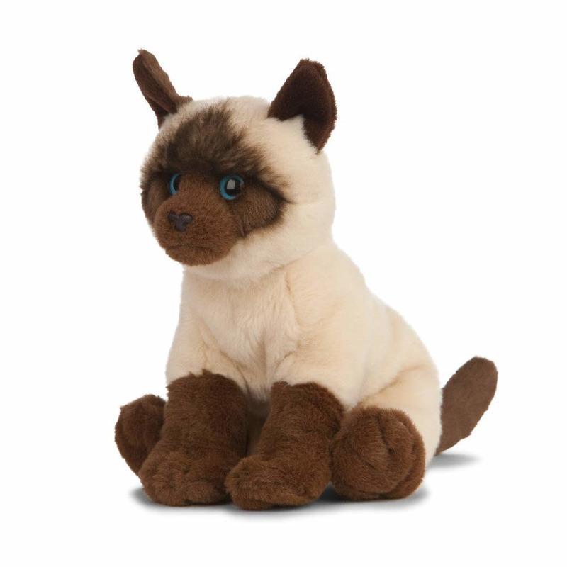 Pluche Siamese kat/poes knuffel 20 cm speelgoed