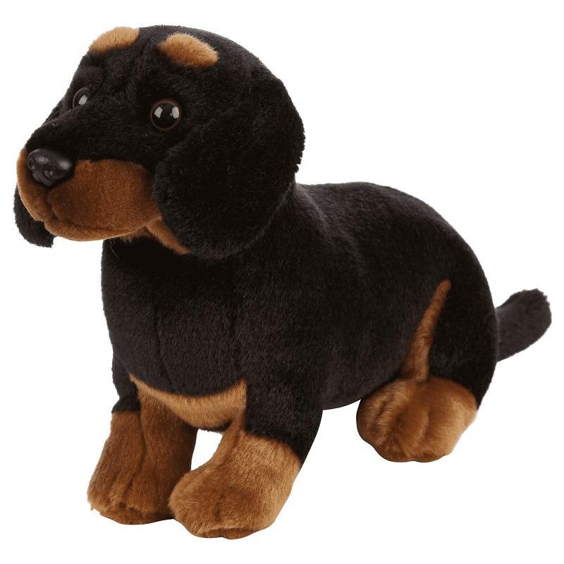 Pluche Teckel honden knuffel 20 cm speelgoed