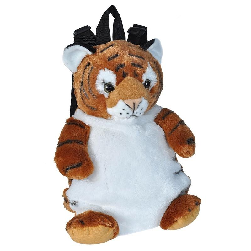 Pluche tijger rugzak/rugtas knuffel 33 cm